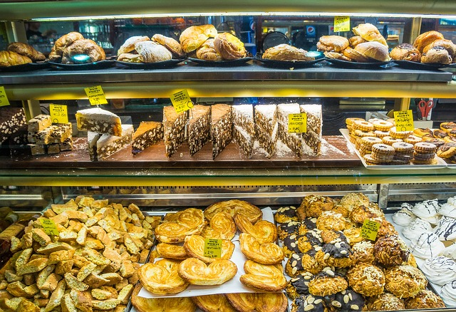 Florentine bakery display.